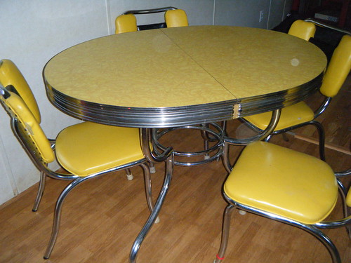 Yellow Formica Kitchen Table