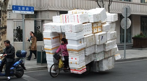 Shanghai Bicycle Delivery of coolers | by Toby Simkin