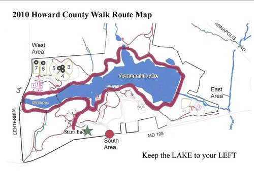2011 Howard County Walk Map | by JDRF Maryland