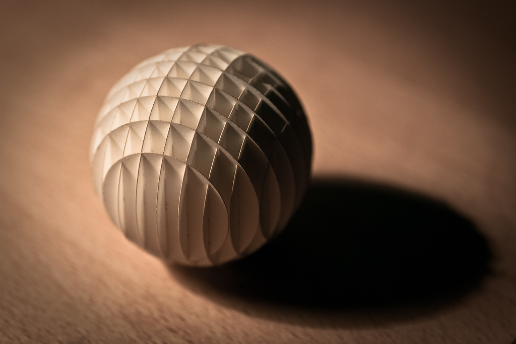 Paper Sphere | I\'m starting to accustom myself with our new … | Flickr