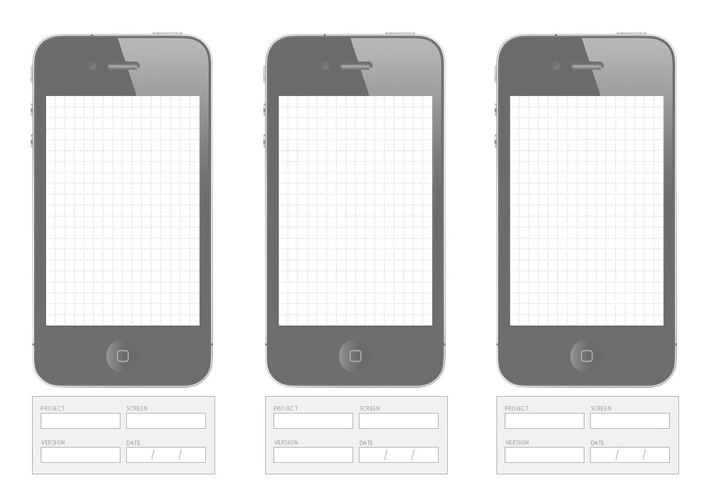 iPhone Wireframe | Being old school, I much prefer to sketch… | Flickr