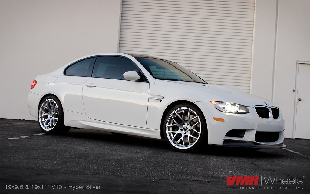 Vmr Wheels V710 19x11 Quot Hyper Silver On Alpine White Bmw