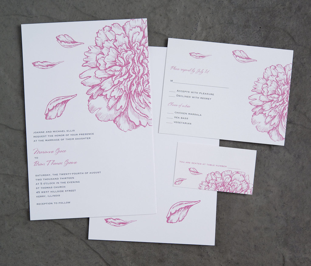 Vistaprint Wedding Invitation - Pink Flowers #2 | Vistaprint… | Flickr