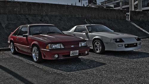 The '88 IROC and a '90 5.0 GT | by aresauburn™
