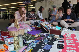 London Stitch-In: Sunday 10th April at Kings Cross station | by craftivist collective