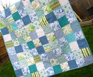 modern vintage quilt--closer | by quirky granola girl