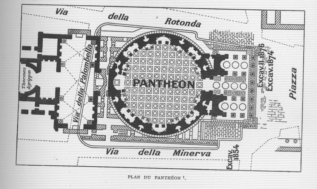 Pantheon Floor Plan | Pantheon Rome Plan Other Title Pantheon Rome Italy Flickr