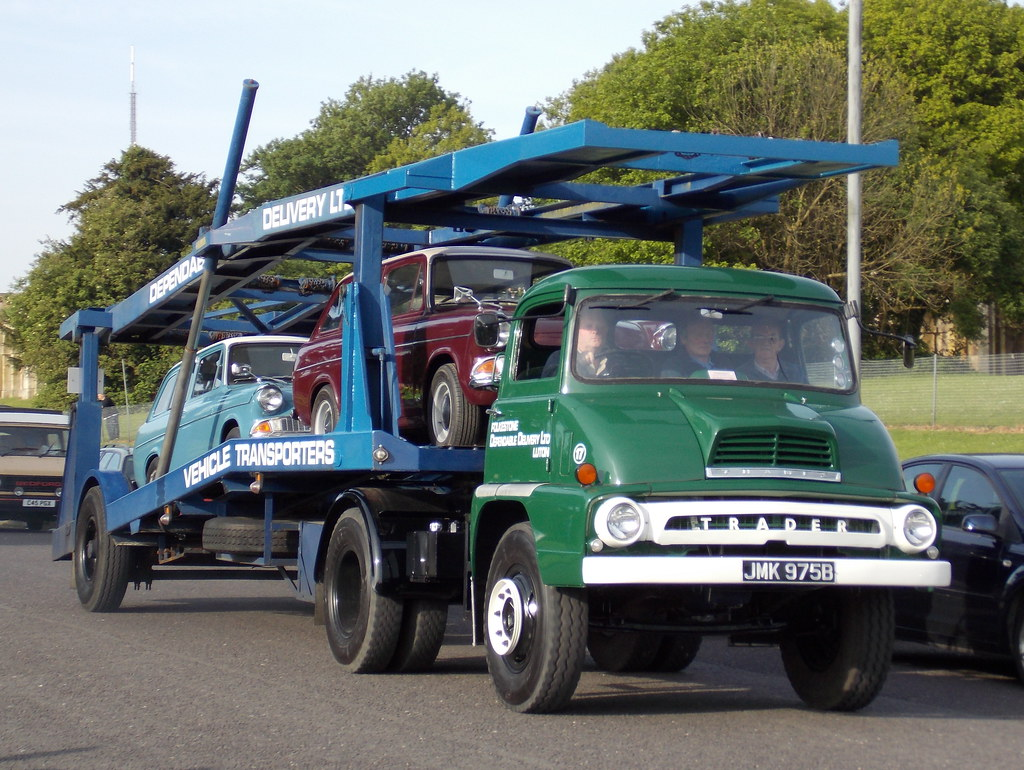 1964 Ford Thames Trader car transporter | Transporting a pai… | Flickr
