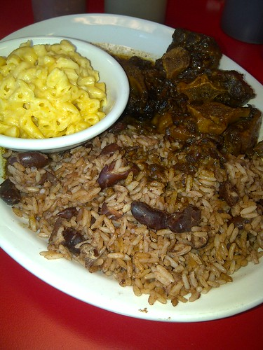 oxtail rice and peas mac n cheese  cutlass grill