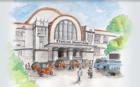 Stasiun Kereta Api Beos | Beos - Di abad 19, 1870-an ...