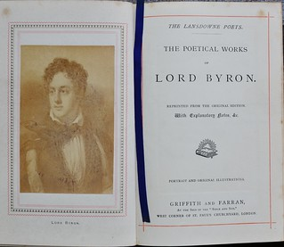 Poems of Byron c1870 - portrait and title page | by AndyBrii