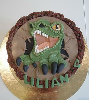 T Rex Birthday Cake Tesco
