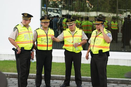 Comandantes de la zona 5 de la polic a nacional y jefes de for Ministerio del interior policia nacional del ecuador