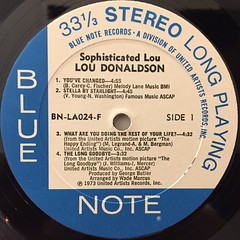 LOU DONALDSON:SOPHISCATED LOU(LABEL SIDE-A)