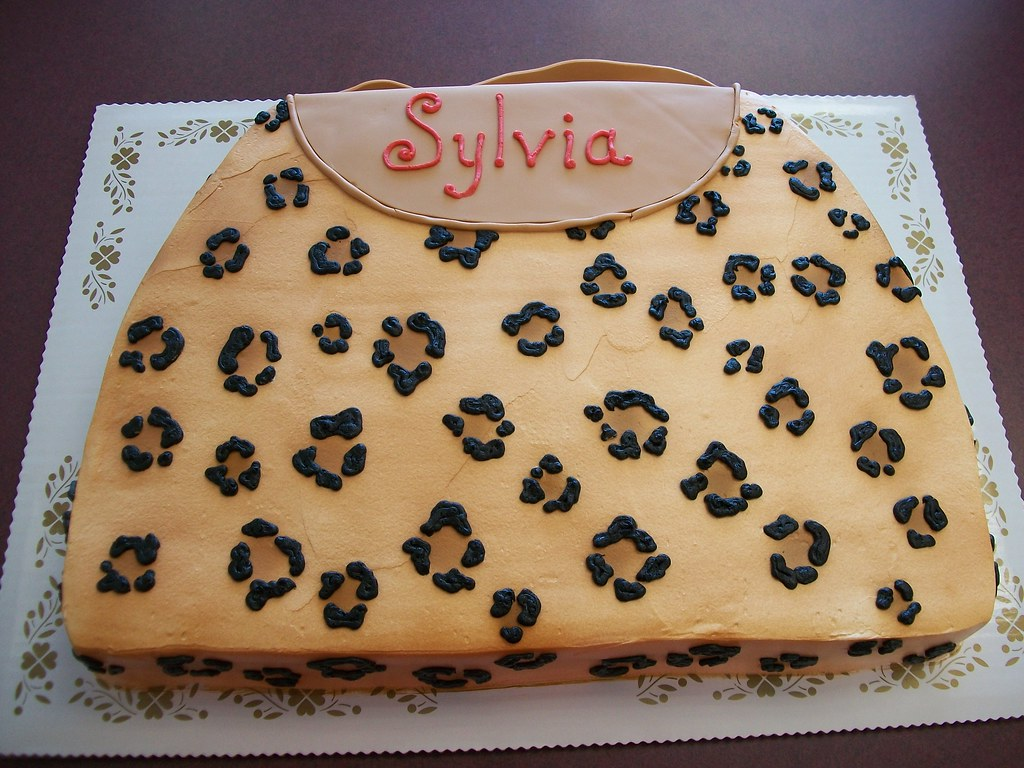 Purse Birthday Cake Sylvia This Is A Custom Designed Pur Flickr