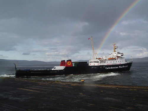Saturns second to last sailing from Dunoon to Gourock departs to a finely timed rainbow | by WesternSMT( Thanks for 7 Million Views !! )