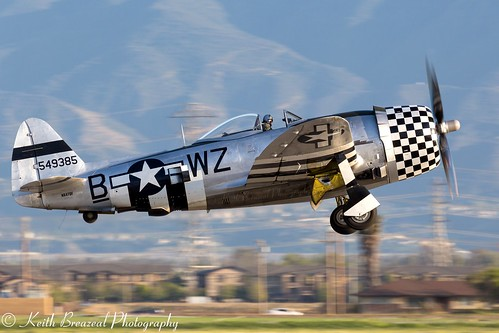 P-47 takeoff at sunset Chino POF 0957 © Keith Breazeal | by Keith Breazeal Photography