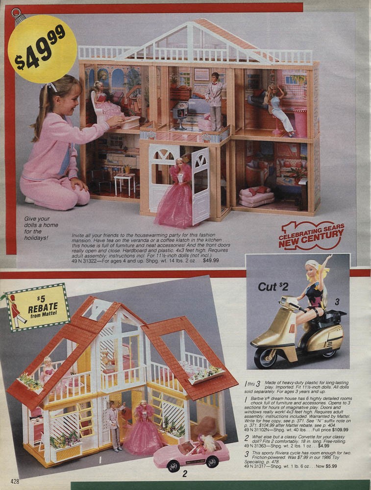 Sears Wishbook Christmas 1986 Barbie Dreamhouse Pirateparakeet