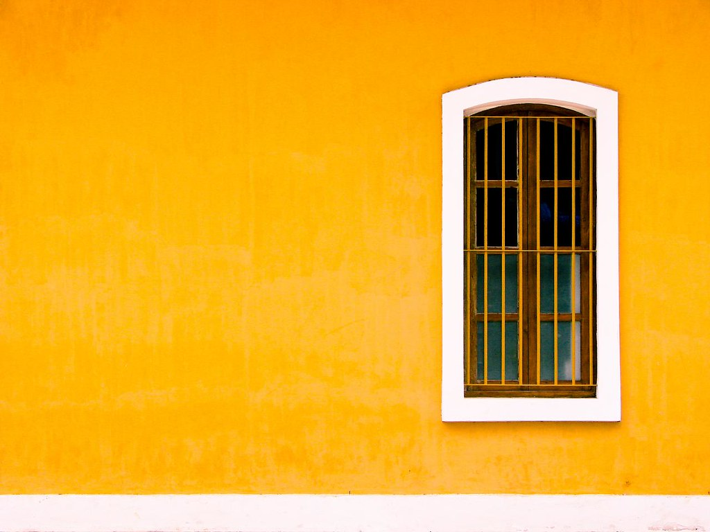 yellow wall shot at french consulate pondicherry i gues flickr