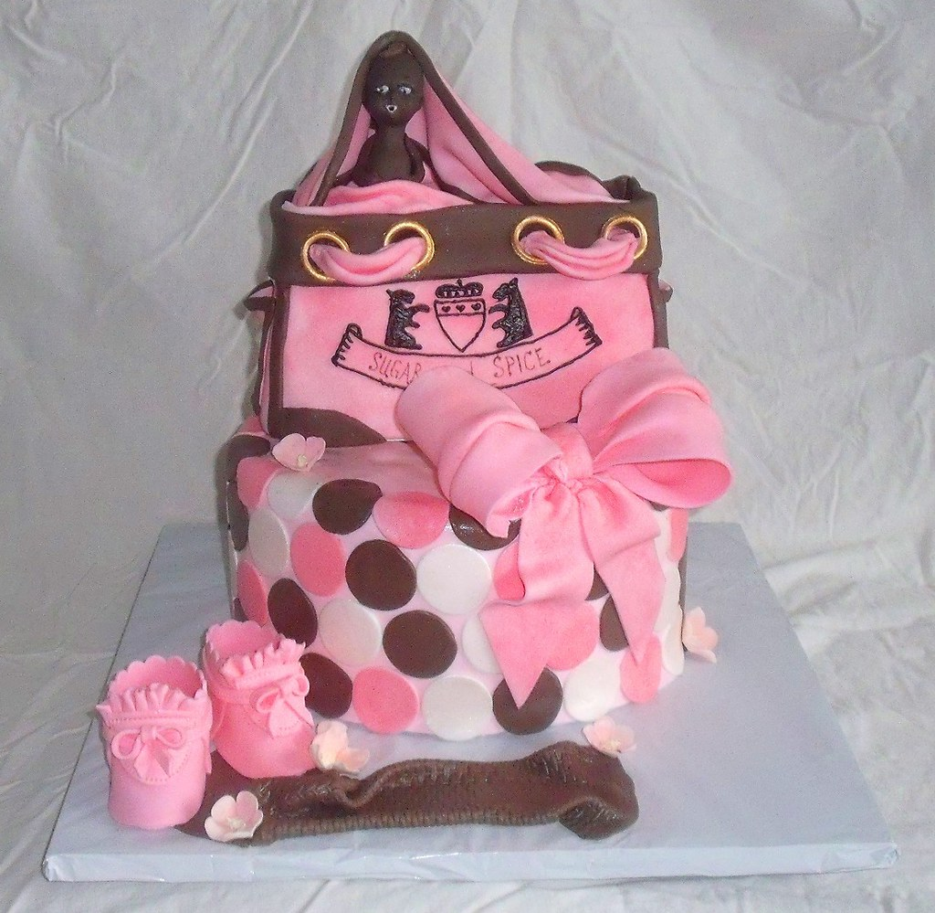 Baby Shower Juicy Couture Diaper Bag Fondant Cake The Juic Flickr