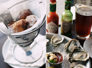 Corn Fritters & Oysters from Pearlz in Charleston, SC | by Wayfaring Wanderer