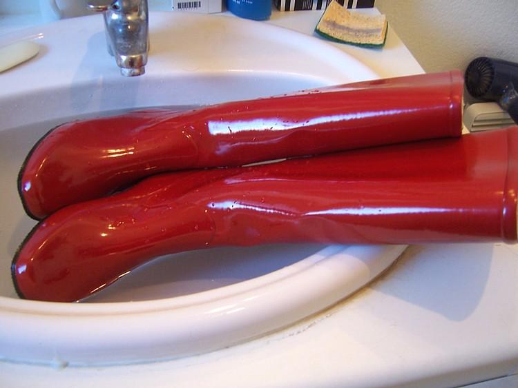 Bottes caoutchouc UMO rouges 16