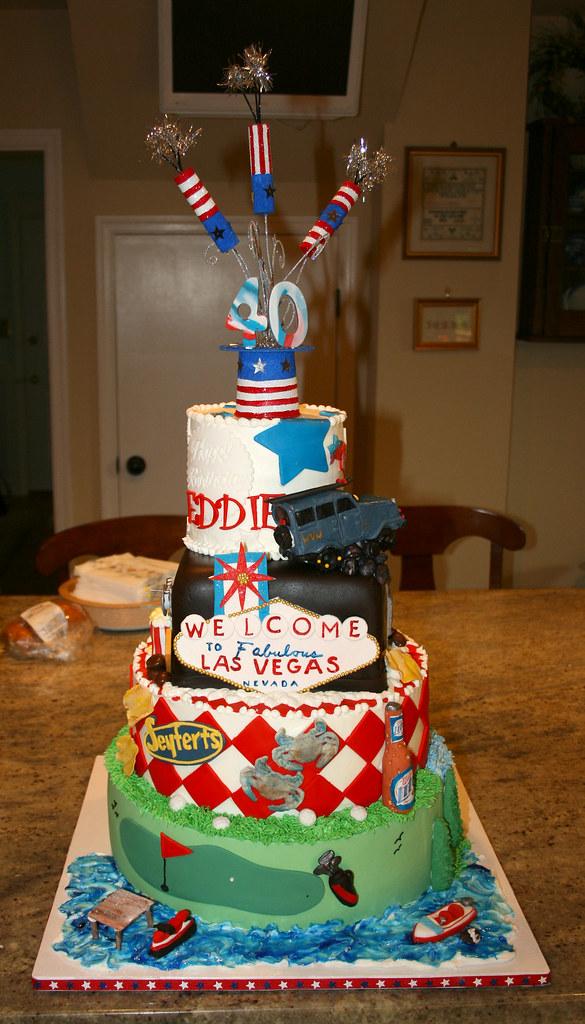 Astounding 4Th Of July Birthday Cake A 40Th Birthday 4Th Of July Cele Flickr Funny Birthday Cards Online Necthendildamsfinfo