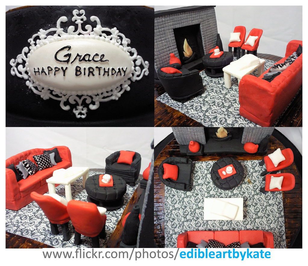 Interior Design Cake Close Ups Birthday Lady Is An Inter Flickr
