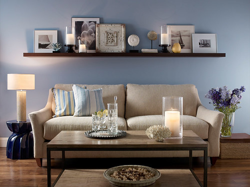 Casual Living Room Walls Russian Blue 560f 4 Trim