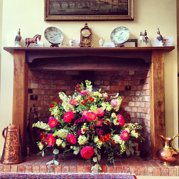 Fireplace flowers Oliver Stedall Flickr.