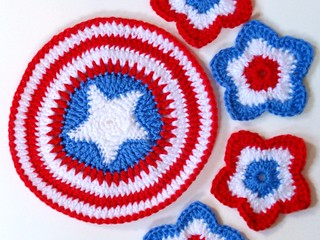 4th of July Coasters & Placemat | by jennlikesyarn