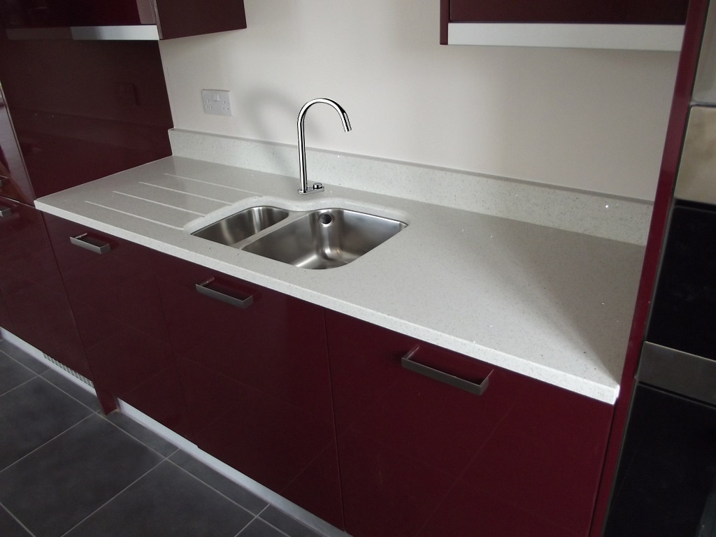 ... Blanco Stellar Silestone Undermounted Sink And Fluted Drainer | By  Caffreys Natural Stone
