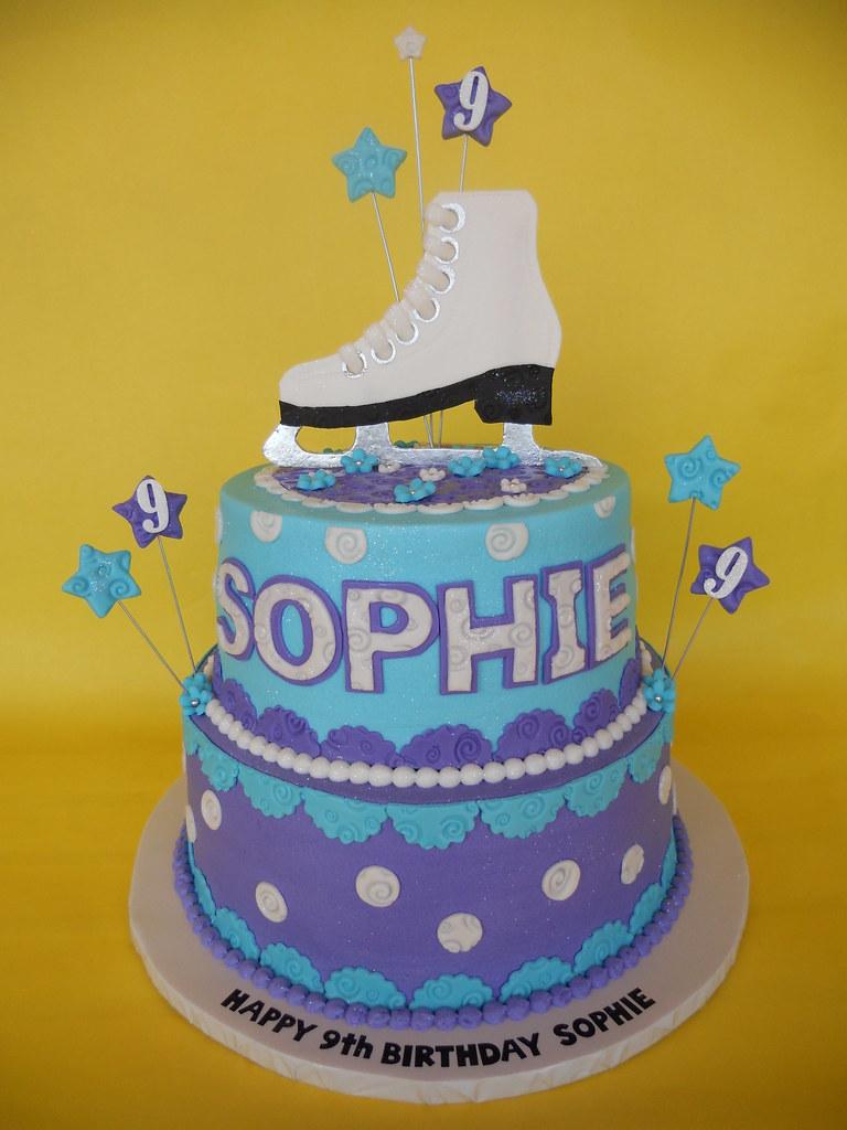 Sophies Ice Skating Birthday Cake Amy Stella Flickr