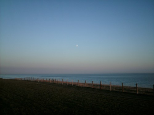 The Moon and Saltdean | by pukkagen