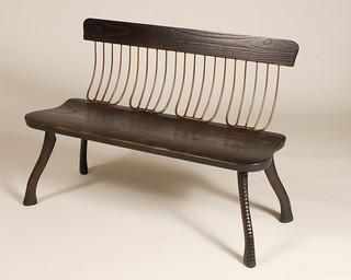 Charred Ash Pitchfork Bench | by Bradford Woodworking
