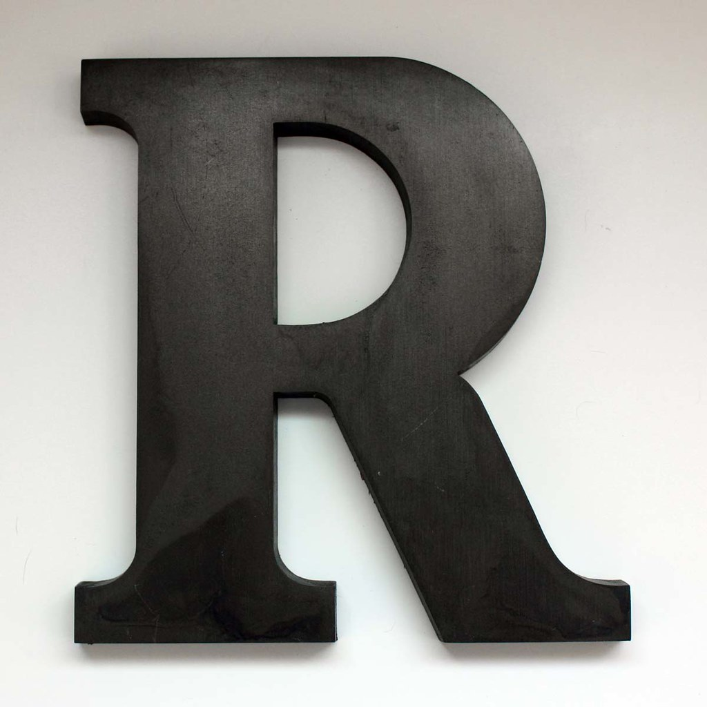 "Big Aluminum Letters Letter R Large2  This Is A Vintage Letter ""r"" From The Old…  Flickr"