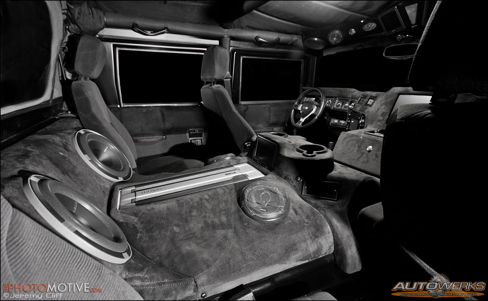 Hummer H1 Interior   Flat white Hummer H1 with full suede in…   Flickr