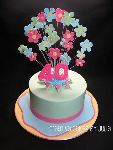 40th Birthday Explosion Rip Cake 40th Birthday