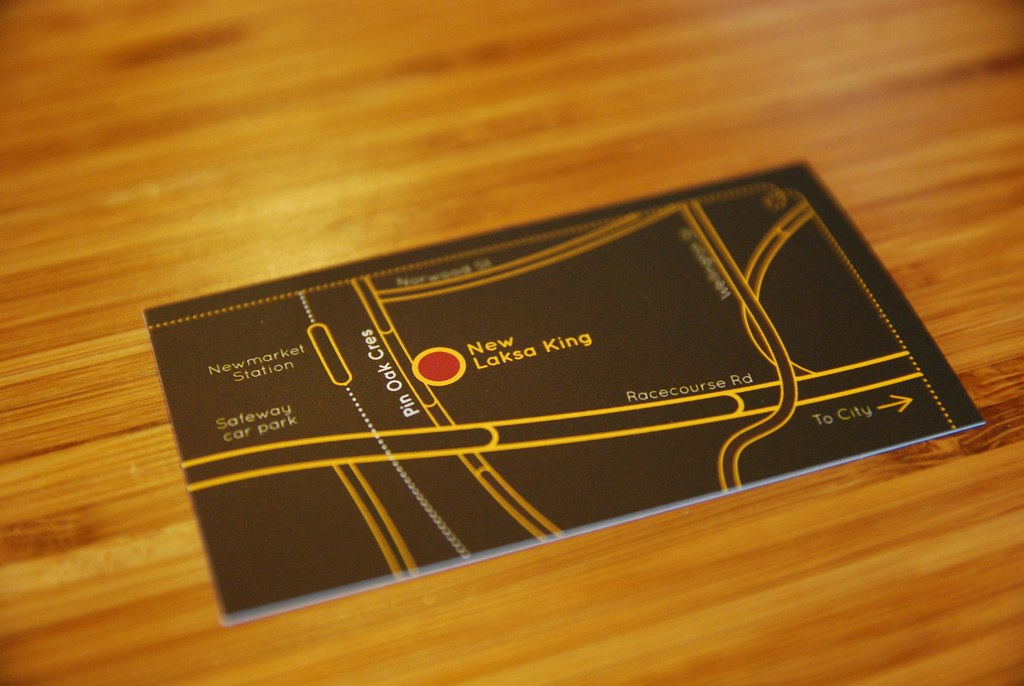 Business card - map - Laksa King | In their bright new premi… | Flickr