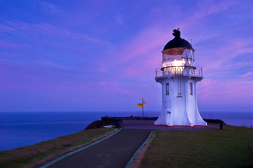 cape reinga lighthouse at sunrise