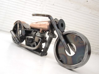 Copper and Metal Motorcycle Sculpture | by Brown Dog Welding