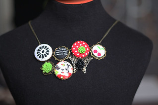 metal button necklace | by Katarina Roccella