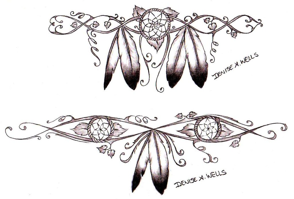 Girly Dreamcatcher Tattoos By Denise A Wells Native Ameri Flickr Fascinating Native Dream Catcher Tattoo