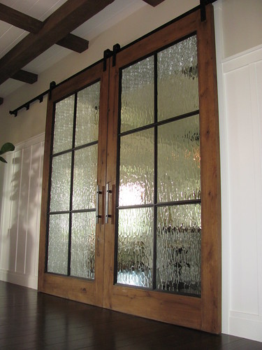 Pair of 4ft x 9 ft track doors ian flickr for 9 foot exterior doors