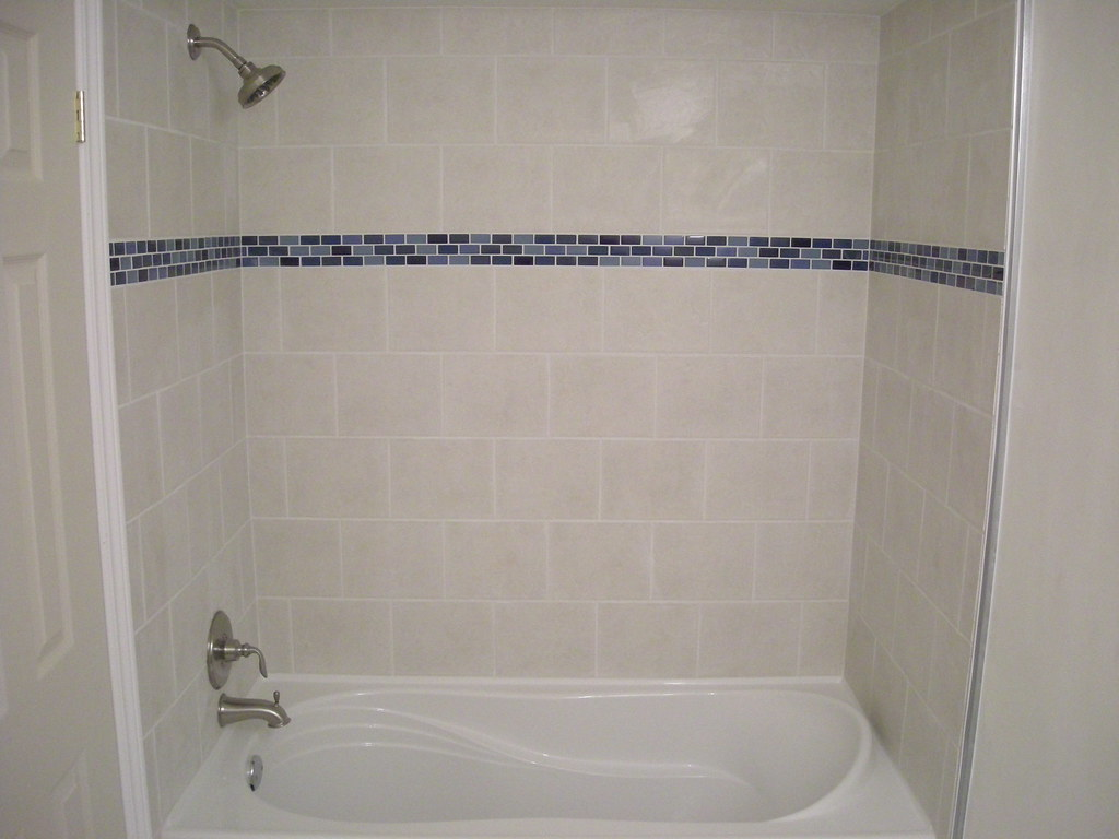 ... Ceramic Tile Shower And Bathtub Surround With Glass Border Detail | By  Kingslandscaping.ca Part 84