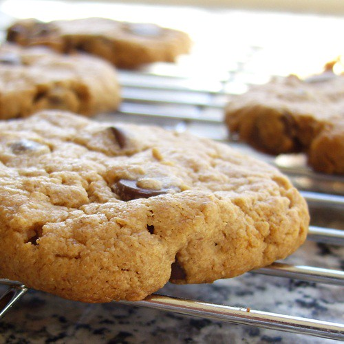 Peanut Butter Chocolate Chip Cookies Without White Sugar