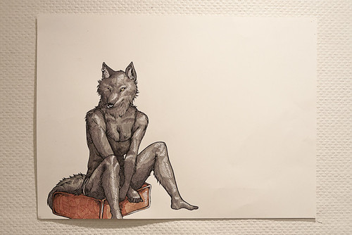 Anthropomorphic Series #2, ink and acrylic on paper | by UT-Chattanooga