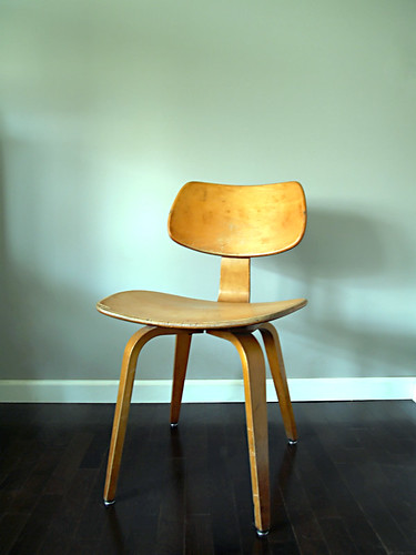 Vintage bent plywood thonet chair - Thonet Mid Century Bent Plywood Chair The Before Pic Of