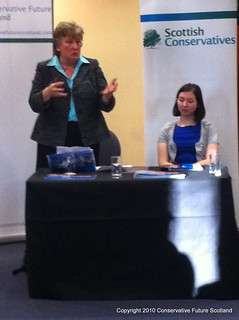 CFS Conference being addressed by Annabel Goldie | by Conservative Future Scotland