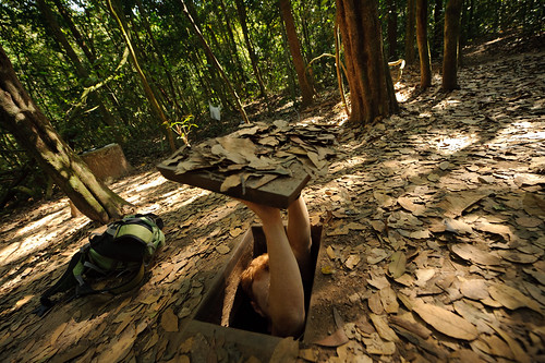 Tyler Entering Cu Chi Tunnel | by goingslowly